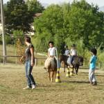 Bimbi e pony con Elisa